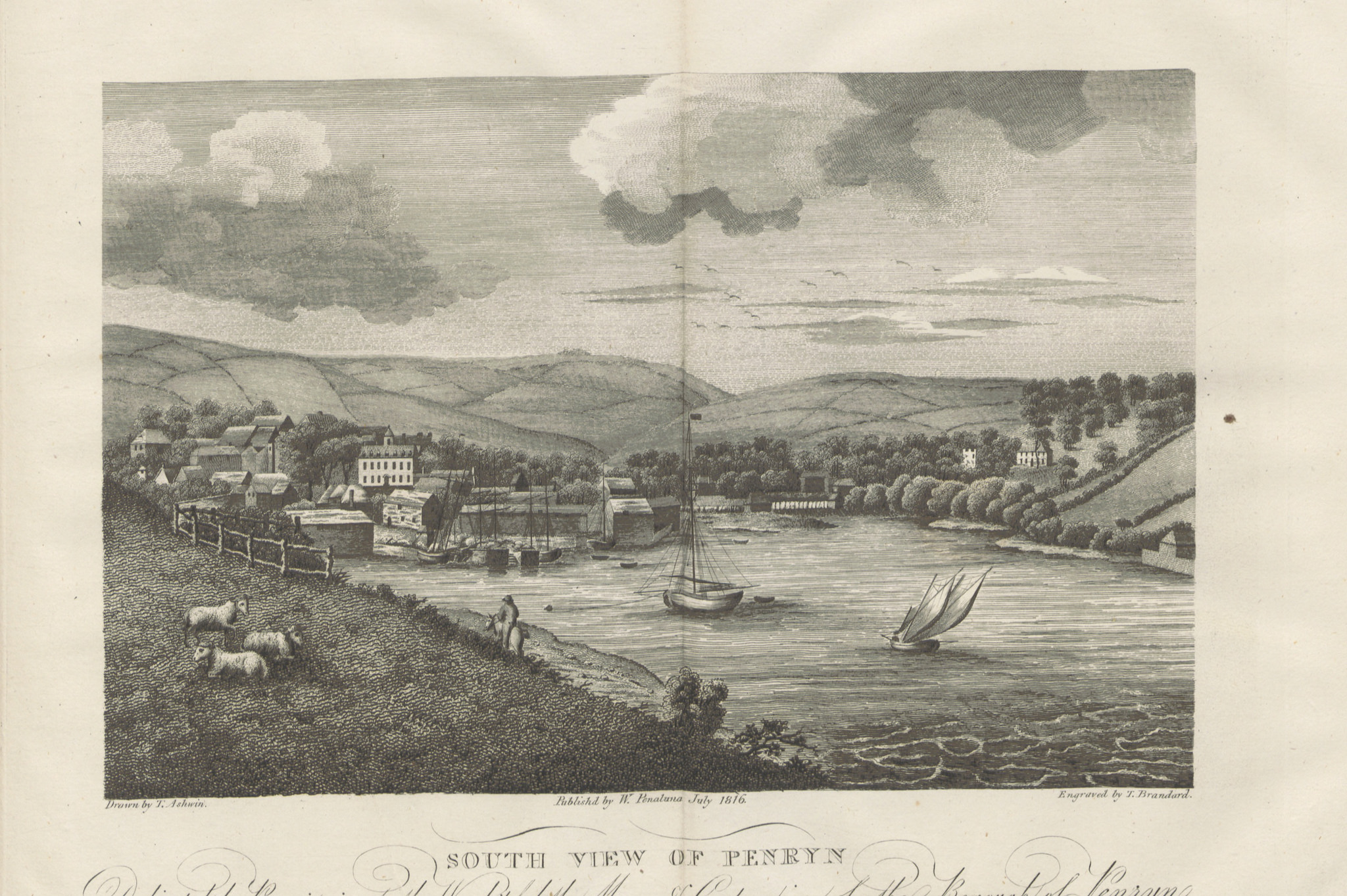 Penryn in 1816 from the south